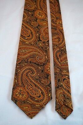 Vintage Retro Style Boston Mens Dress Tie Hand Woven Wide Necktie Polyester