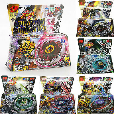 Fight Master Bayblade Set Spinning Metal Fusion 4D Launcher Toy Gift  BB105 106