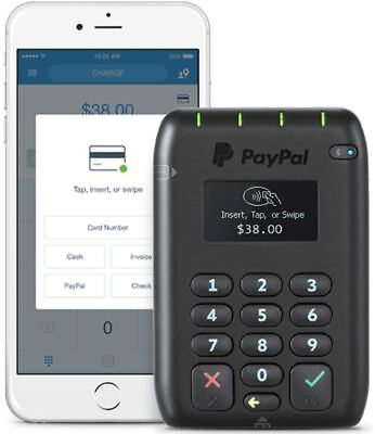 PayPal Here EMV Contactless POS, Chip and PIN, Swipe, Bluetooth Card Reader, NEW