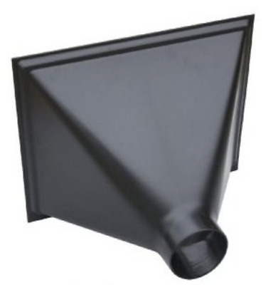 """ABS Plastic Material 13""""X16"""" Opening Big Gulp Dust Collector Hood With 4"""" Outlet"""