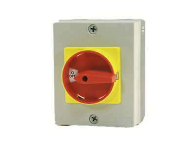 32A 4 Pole IP65 Load Break boxed Rotary Isolator Switch