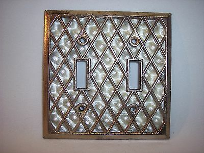 Vintage Art Deco Mother of Pearl Ornate Double Switch Plate Cover Lot FF