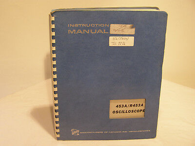 Tektronix Oscilloscope 453A/R453A Instruction Manual