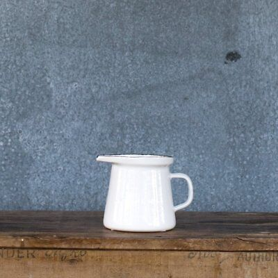Romanian enamel jug, 250ml, white