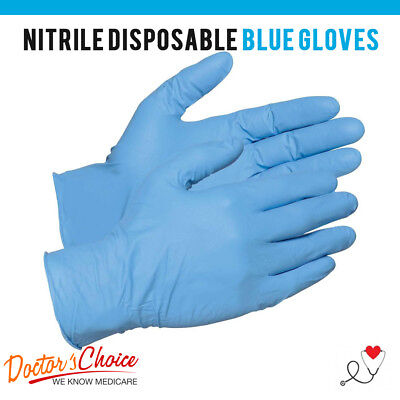 Nitrile Disposable Gloves Powder Free Non-Latex Blue S, M, L, XL