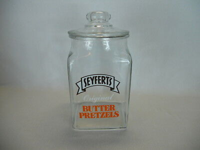 Vintage General Store Advertising Seyfert's Pretzel Jar