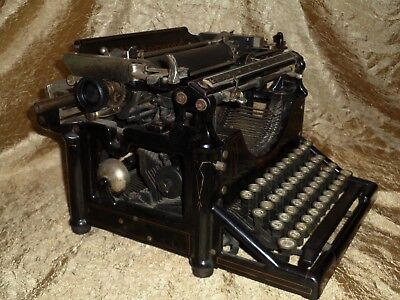 Old MUSEUM QUALITY ANTIQUE 1903 UNDERWOOD TYPEWRITER Model No 5 STEAMPUNK  WORKS