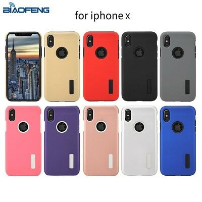 iPhone X Dual-Layer Shockproof Hybrid Rugged Hard Case for iPhone X iPhone XS