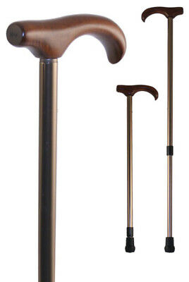 Adjustable Derby Stick with Bronzed Shaft