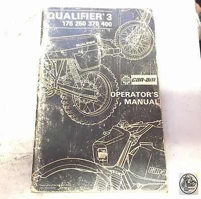 Can-Am Qualifier 3 175 250 370 400 Operator's Manual