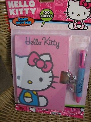 Hello Kitty Diary With Pen 100 Sheets NIP