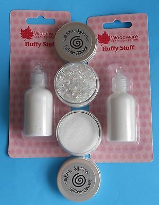 2 FLUFFY STUFF & 2 GLITTER JEWELS  Woodware/Cosmic Shimmer  for PUFFY SNOW