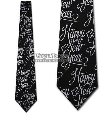 New Years Tie Happy New Year Neckties Mens Holiday Neck Tie NWT