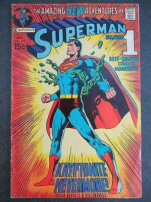 Superman #233 Neal Adams Iconic Classic Cover 1971 Clark Becomes TV Newscaster