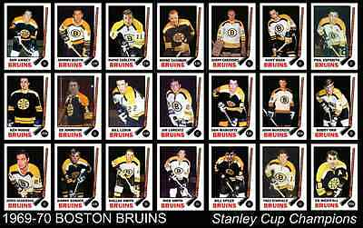 BOSTON BRUINS 1969 1970 Stanley Cup Champions Team Poster Decor Xmas Gift 69 70