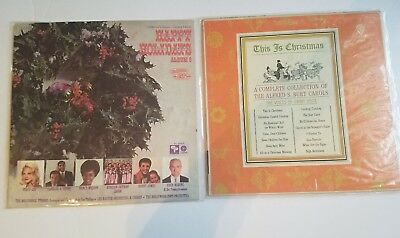 Lot Of 2 Two Holiday CHRISTMAS LP Vinyl Record Records Album Albums True Value