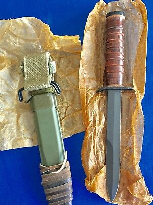 Mint Unused Vintage WWII 2 USM3 US M3 CASE Trench Fighting Knife M8 Scabbard Exc
