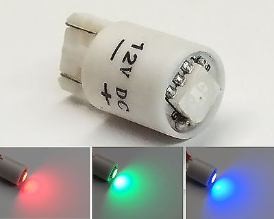 12V 10mm Wedge Base Colour Changing RGB LED arcade machine MAME bulb T10