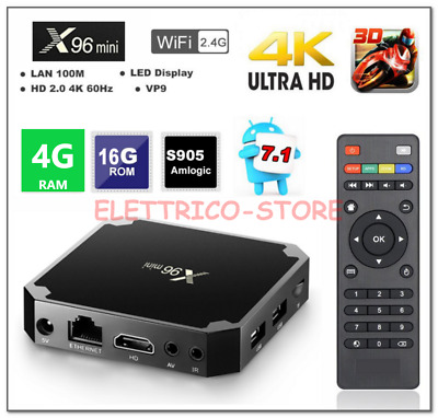 X96 mini TV Box Android 7.1 4GB+16GB 4K Amlogic S905w Kodi H.265 Quad Core 3D HD