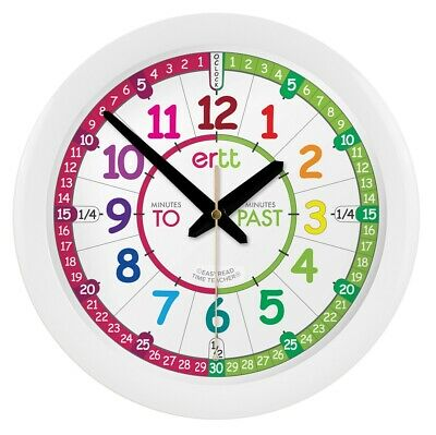 EasyRead Time Teacher Children's Clock, 29cm, learn to tell the time, ages 5-12