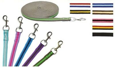 * Long Lunge Line Rope Rein 8 Meter Dog Horse Pony Training Lead *ALL Colours**