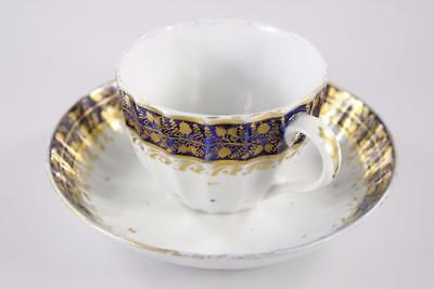 ANTIQUE 18th Century ENGLAND FACTORY CUP SAUCER STYLE OF DERBY