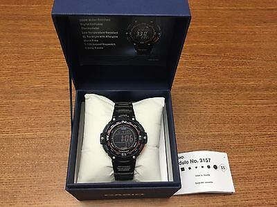 New Casio Men's SGW-100-2BCF Twin Sensor Digital Display Quartz Black Watch Save