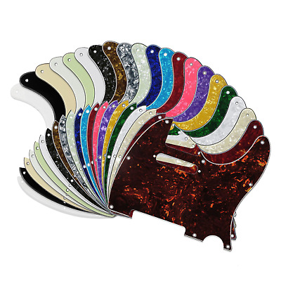 Tele Telecaster Electric Guitar Pickguard Scratch Plate USA MEX FIT 21 Colours