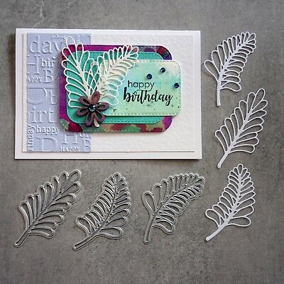Shopaperartz PALM LEAF TRIO LEAF LEAVES BOTANICAL CUTTING DIES 3 PIECES