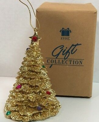 Avon Holiday Gold Sparkle Tree Ornament 1996 Avon Collection Christmas