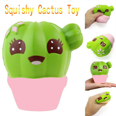 Slow Rising Toy Kawaii Soft Squishy Potted Cactus For Children Adults