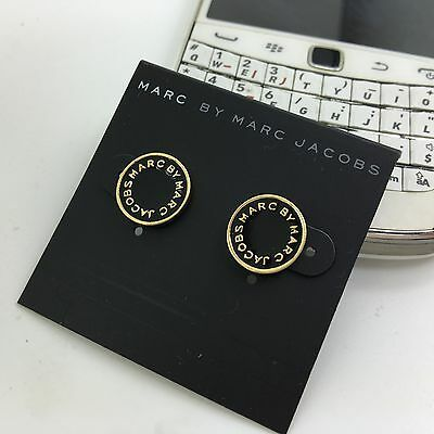 Hot Sale Marc by Marc Jacobs Gold Silver  Letters Logo Disc MJ Earrings #E001X