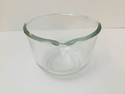 Vtg Small Glass Mixing Bowl Pour Spout Oster Regency Kitchen Center Replacement