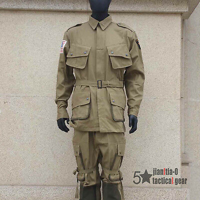 WW2 WWII US Airborne M42 Uniform Solider Jumpsuit Paratrooper S