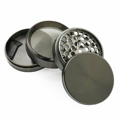 4-Piece Grinder Tobacco Herb Spice Crusher 2.5 Inches Zinc Alloy Smoke Metal