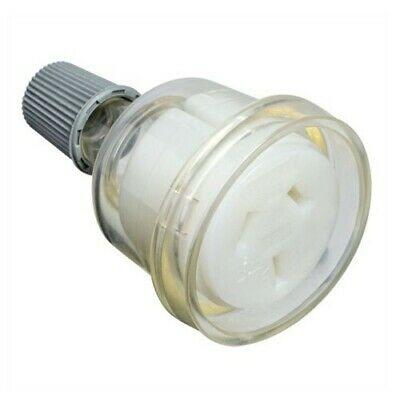 15 Amp Female Extension Socket Lead 3 Pin Clear 240v