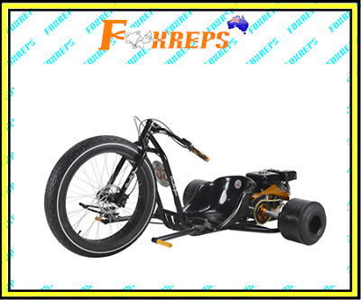 2017 9HP 270cc FATBOY DT4 MOTORISED DRIFT TRIKE HuFFy SLIDER FULL SIZE YELLOW