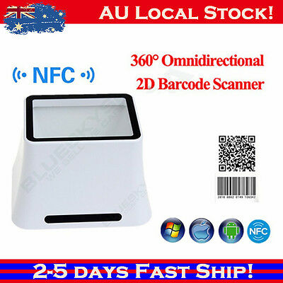 LOCAL High Speed 360° Screen 2D Barcode Scanner Desktop Reader For Android IOS