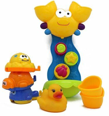 VERZABO Crab Waterfall Toy Play Set That Includes 3 Floating Sea Creature and a