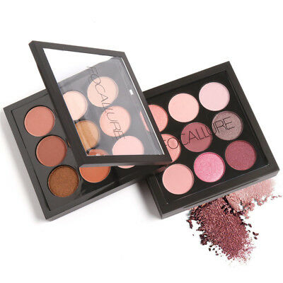 9 Color Eye Shadow Makeup Cosmetic Shimmer Matte Eyeshadow Palette Set Kit XMAS