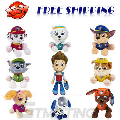 Cute Paw Patrol Pup Figures Soft Plush Dog Doll Baby Boy Girl Toy Xmas Kids Gift