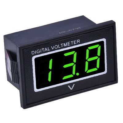 "DC 3-30V Voltmetro Digitale Impermeabile 0.36"" LED Verde Display Pannello Tester"