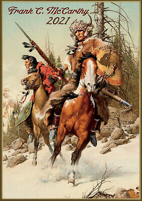 Wall Calendar 2018 [12 pages A4]Native American Horsemen Vintage by McCarthyM761