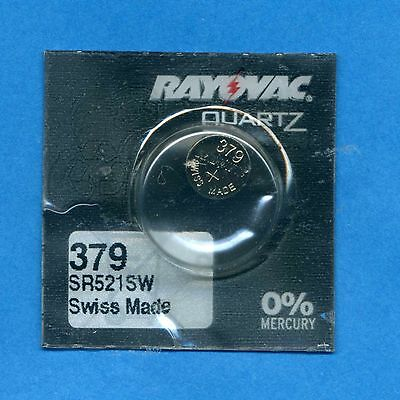 379 SR521SW V379 D379 1.55V Silver Oxide Watch Cell Battery Rayovac from UK