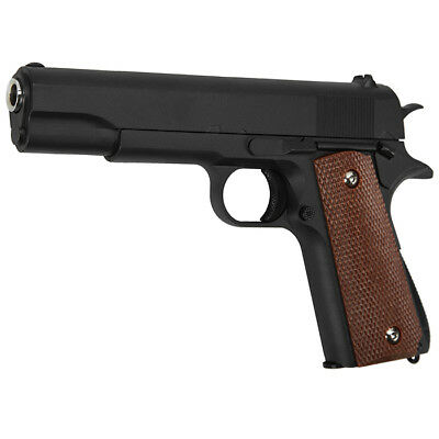 Galaxy M1911 A1 Vollmetall Springer 6mm BB schwarz Softair Pistole Airsoft