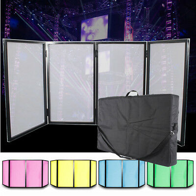 DJ Facade Booth Lighting Facade Lycra Fabric Screen Free Carry Bag 4 Frame Panel