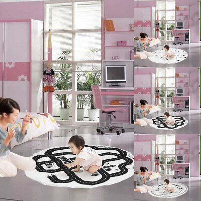 Soft Round Chilren Kid Play Rug Carpet Game Mat Bedroom Baby Crawling Blanket