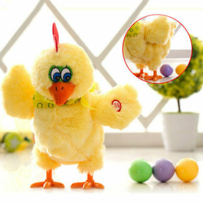 Toy Doll Laying Egg Electric Plush Crazy Chicken with Lights Sound Music