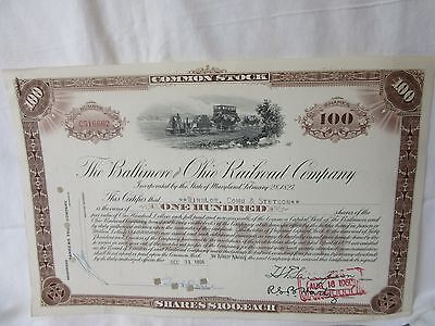 Us Common Stock-1956,baltimore&ohio Railrd Co-Certifies*winslow,cohu&st.100Share