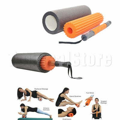 3-IN-1 Eva Physio Foam Massage Roller Yoga Pilates Gym Exercise  Body Sculpture